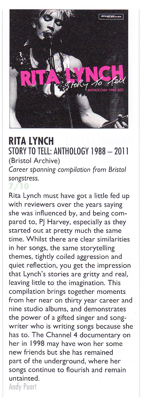 Rita Lynch vive le rock 7 out of 10 album review March 2016